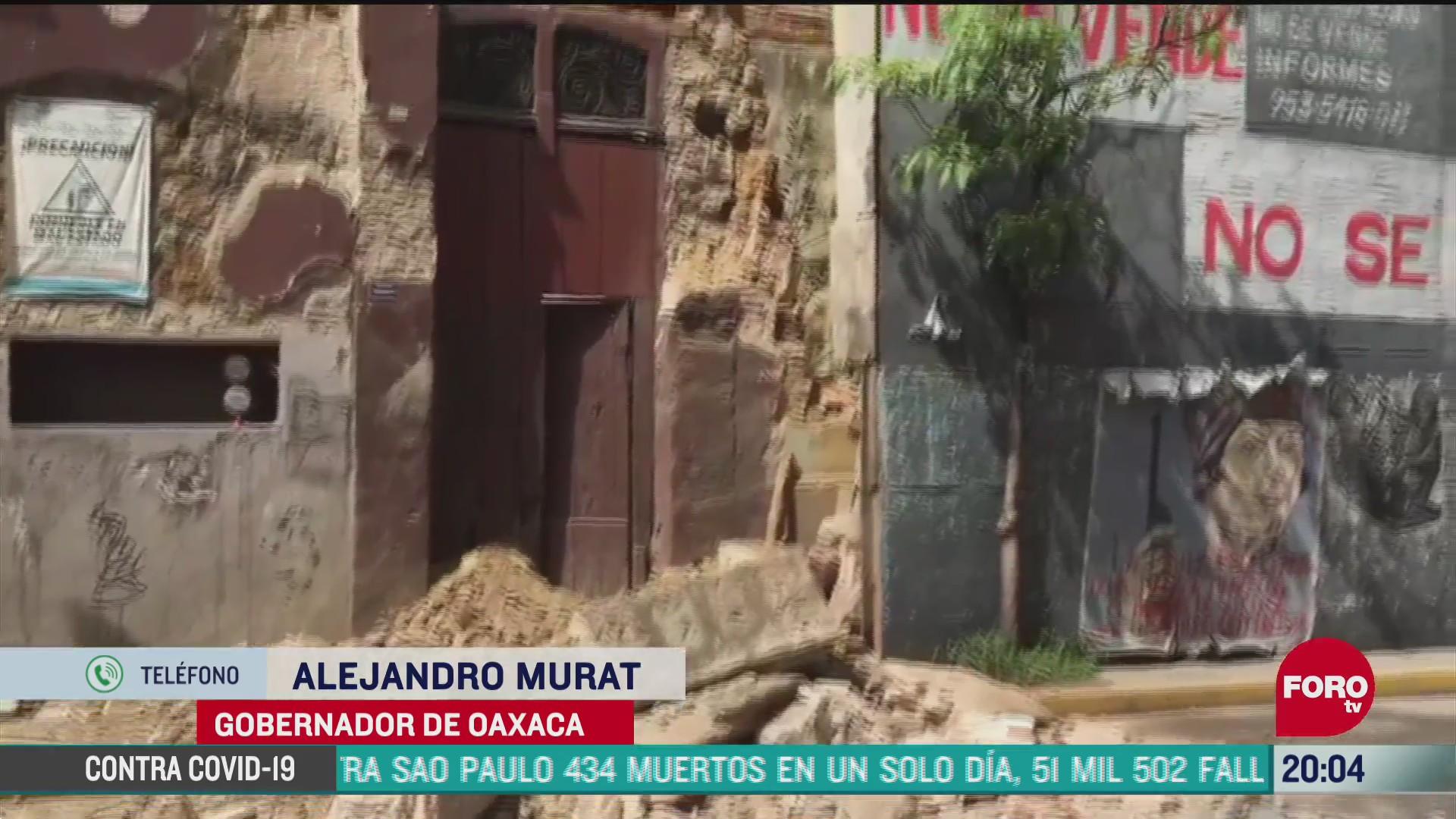 gobernador de Oaxaca Alejandro Murat confirmó la muerte de seis personas