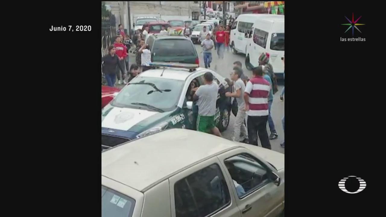 incidente de transito termina en intento de linchamiento en cuajimalpa