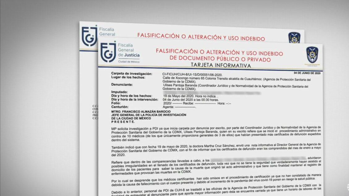 investigan a medicos por presunto falseo de certificados de defuncion por covid