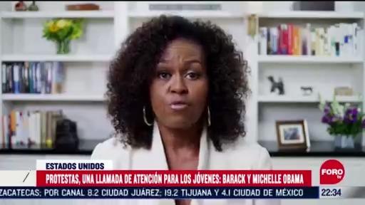 FOTO: 7 de junio 2020, michelle y barack obama se pronuncian sobre los tiempos inciertos que se viven en ee uu