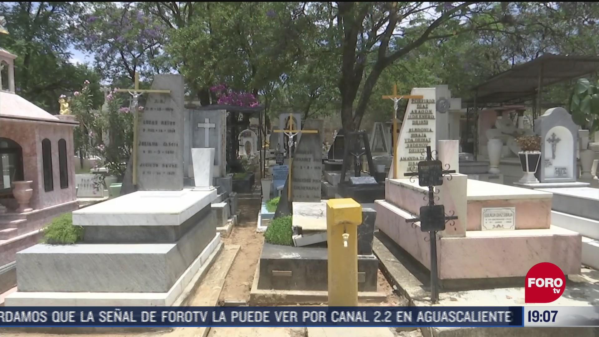 FOTO: 20 de junio 2020, panteones seran cerrados por dia del padre en oaxaca