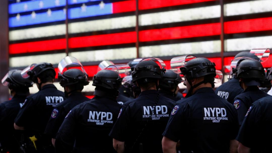 Policías de Nueva York en formación. Reuters