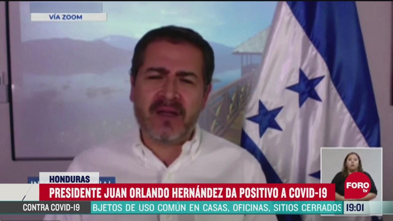 Juan Orlando Hernández presidente Honduras positivo coronavirus Covid-19
