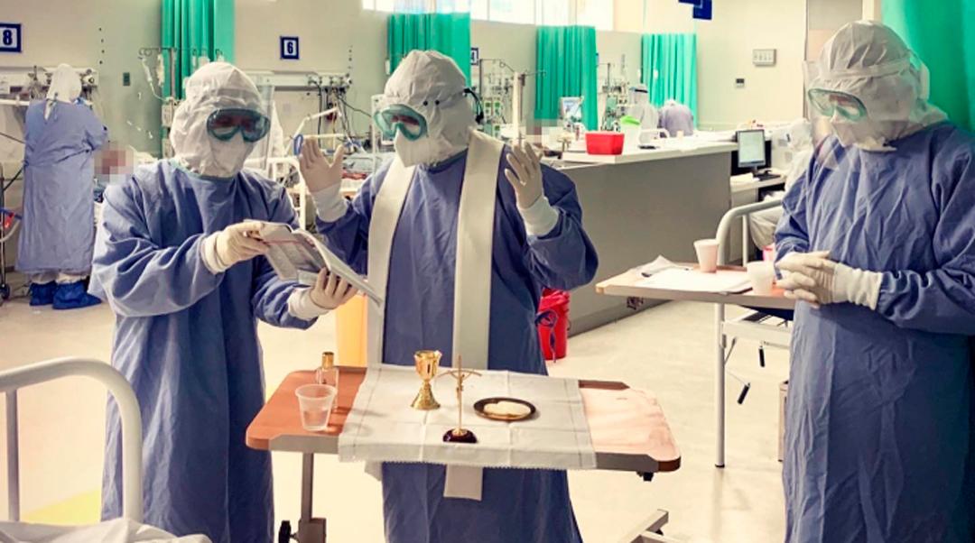 Primera Comunión a paciente con coronavirus en hospital de Jalisco