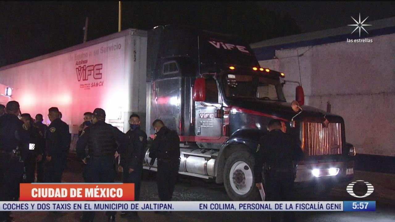 recuperan trailer robado en la zona centro de la cdmx