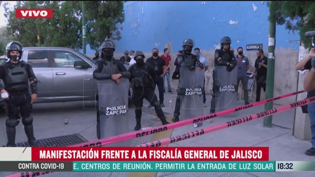 FOTO: segundo dia de protestas por muerte de giovanni lopez en guadalajara