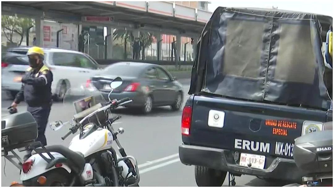 Foto: Un hombre perdió la vida tras caer a las vías del Metro Xola, 20 de junio de 2020 (Foro TV)