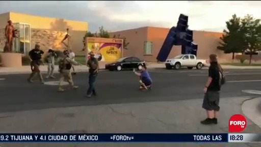 FOTO: tiroteo durante intento por derribar estatua deja un herido