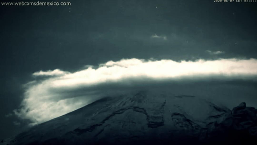 Popocatépetl presenta 350 exhalaciones en el último día