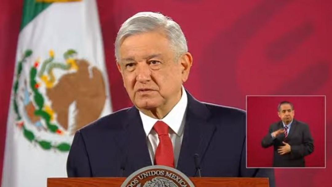 El presidente López Obrador en conferencia de prensa matutina