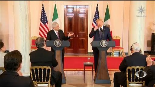 AMLO y Trump se llaman 'amigos' frente a empresarios en Estados Unidos