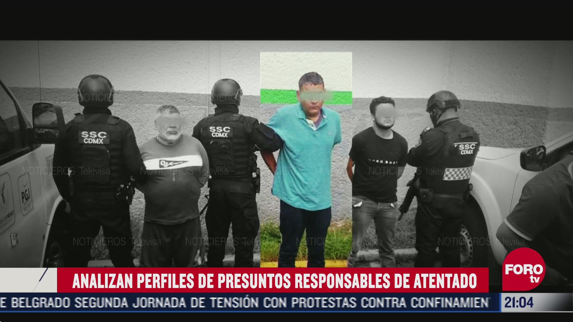 perfiles de presuntos responsables de atentado a Omar García arfuch
