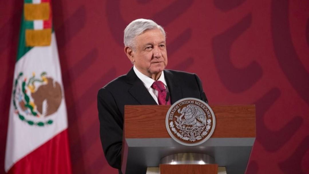 Andrés Manuel López Obrador en conferencia de prensa en Palacio Nacional