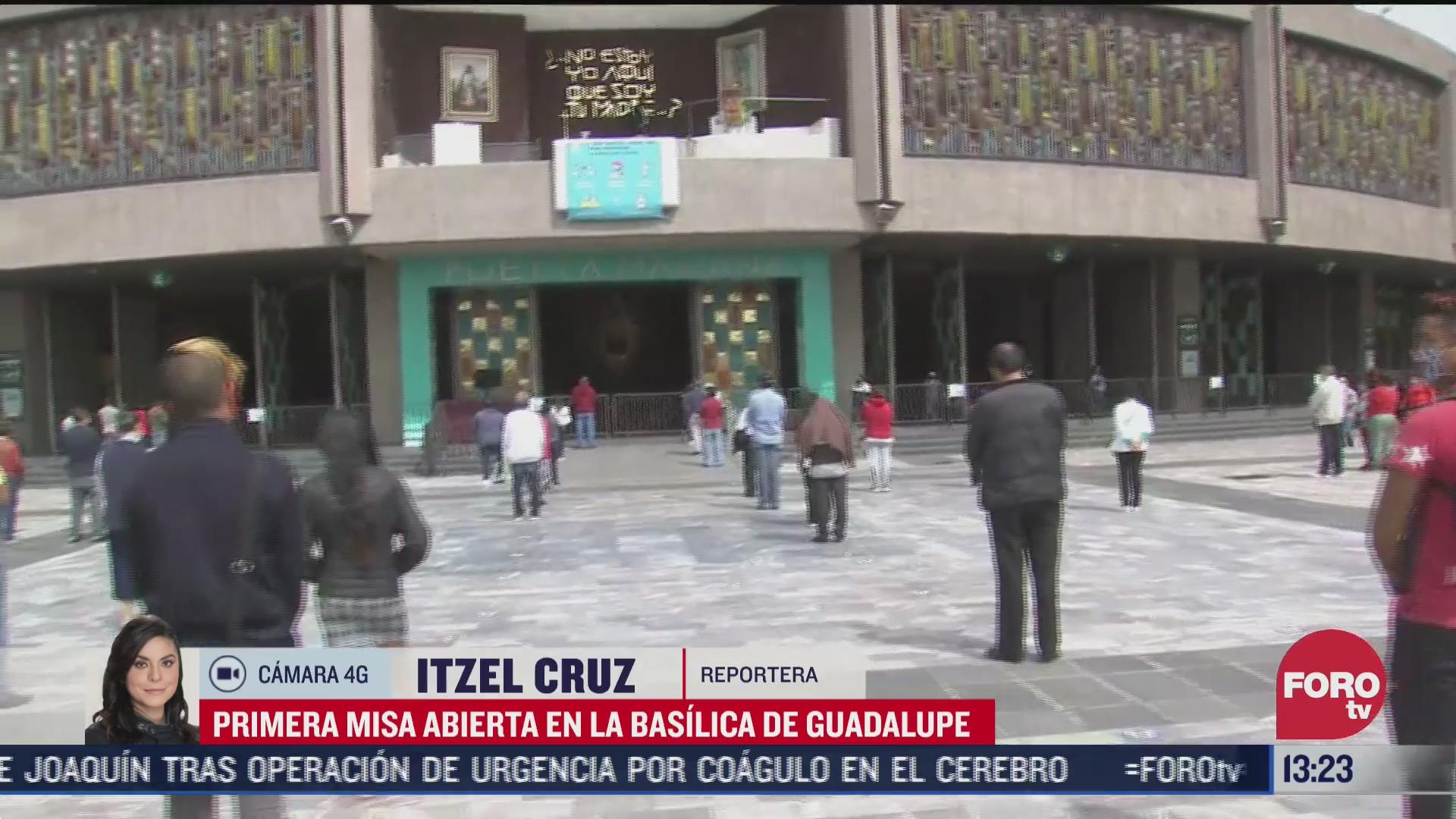 FOTO: 26 de julio 2020, basilica de guadalupe reabre sus puertas tras cierre por covid