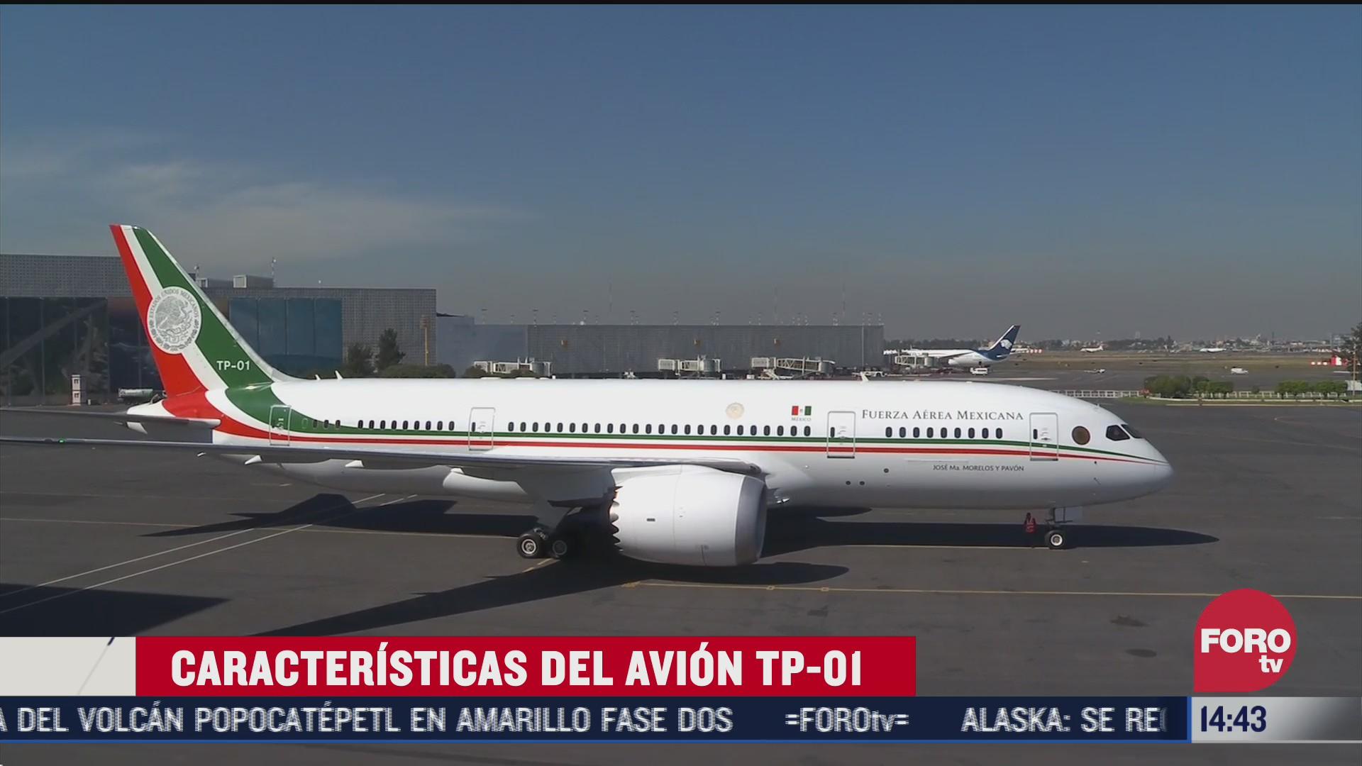 como es el avion presidencial tp