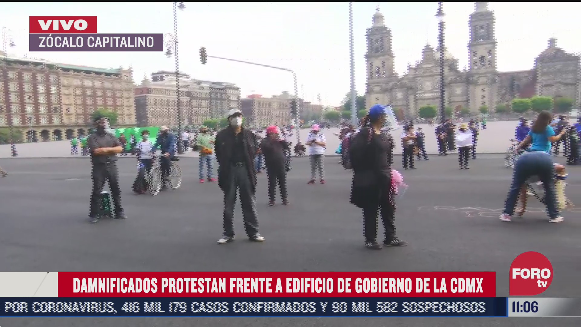damnificados protestan frente al edificio de gobierno de la cdmx