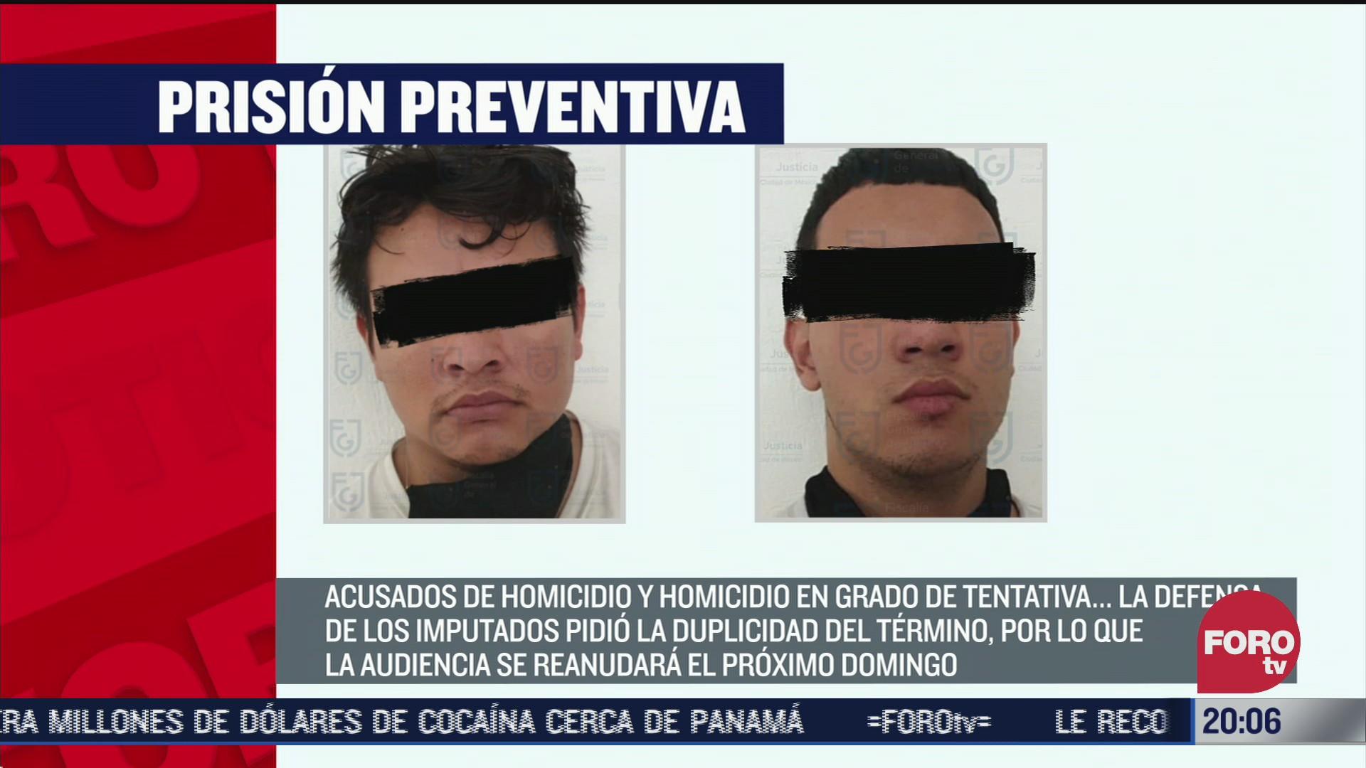 prisión preventiva a detenidos en atentado contra García Harfuch