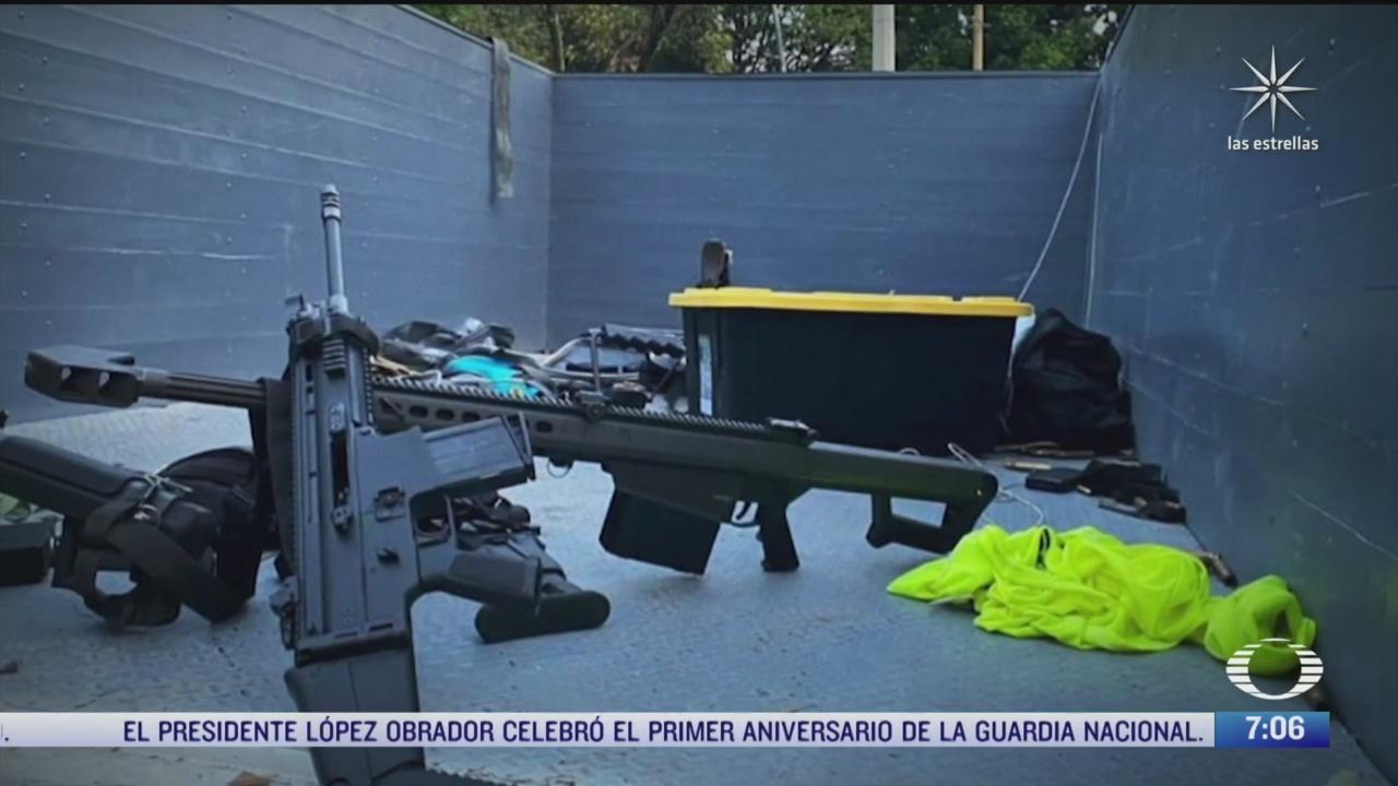el origen de armas usadas en atentado contra garcia harfuch