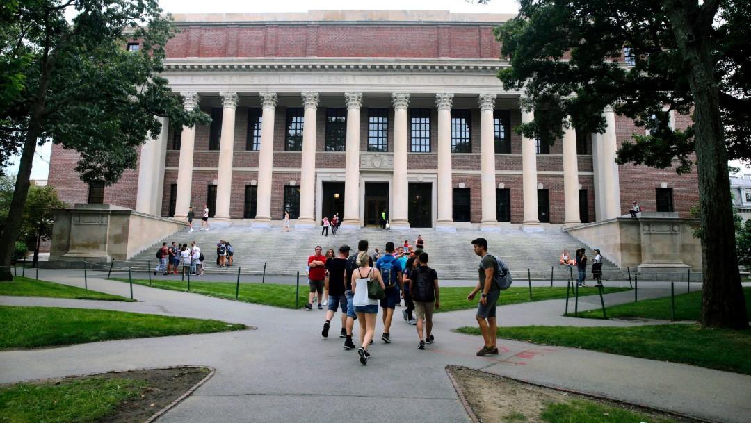 Estudiantes en la Universidad de Harvard