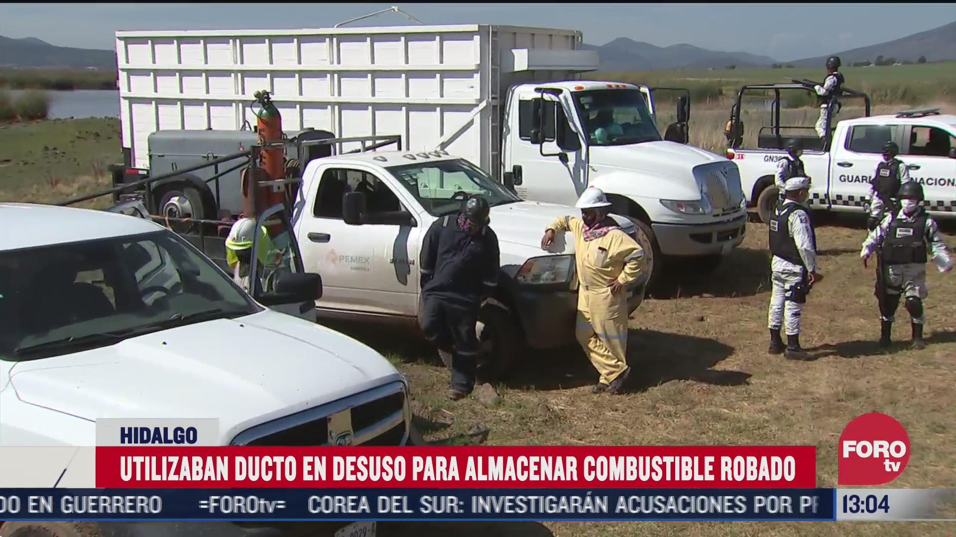 huachicoleros almacenan combustible robado en hidalgo