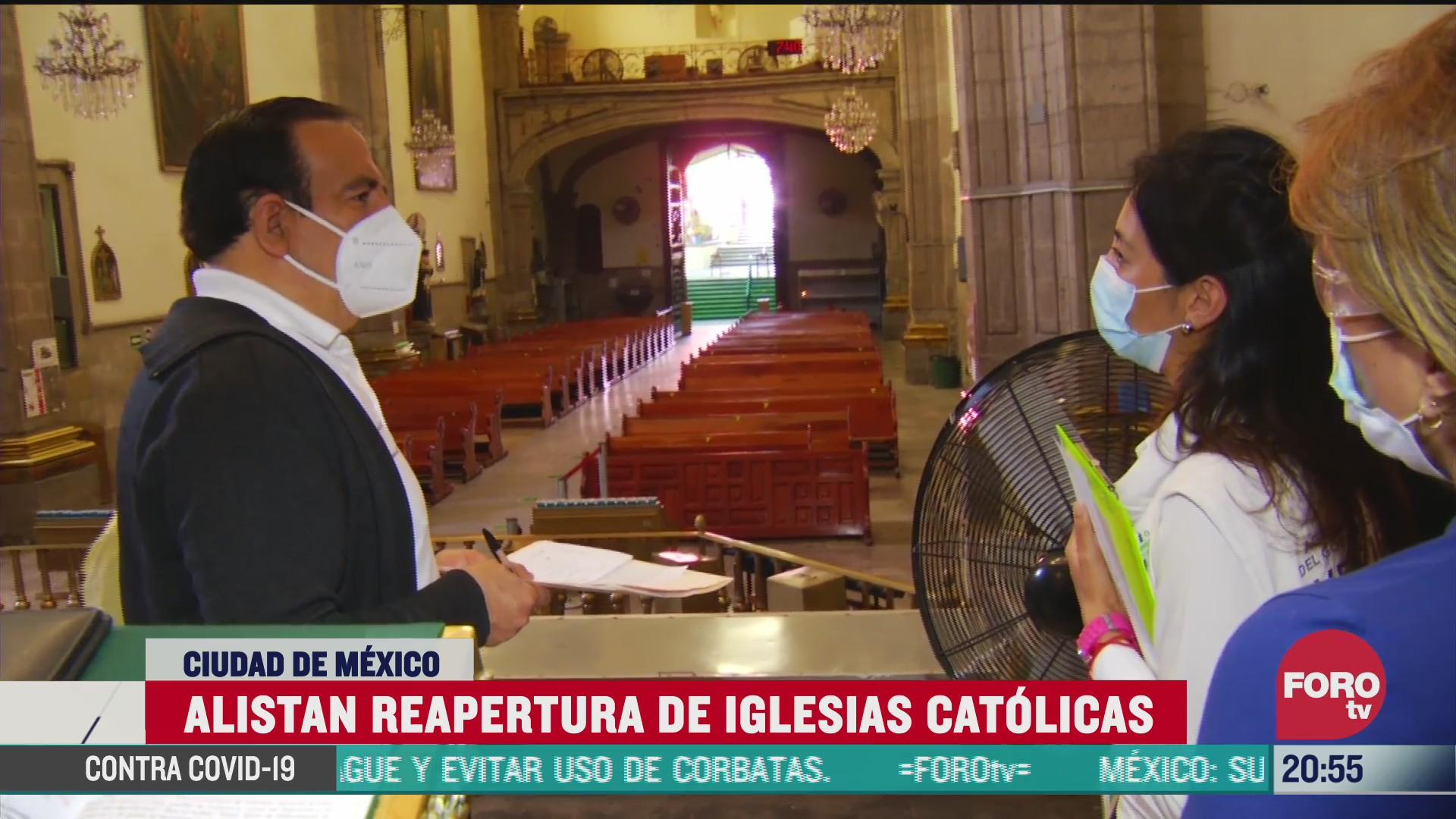 iglesias catolicas se preparan para su reapertura tras confinamiento por coronavirus