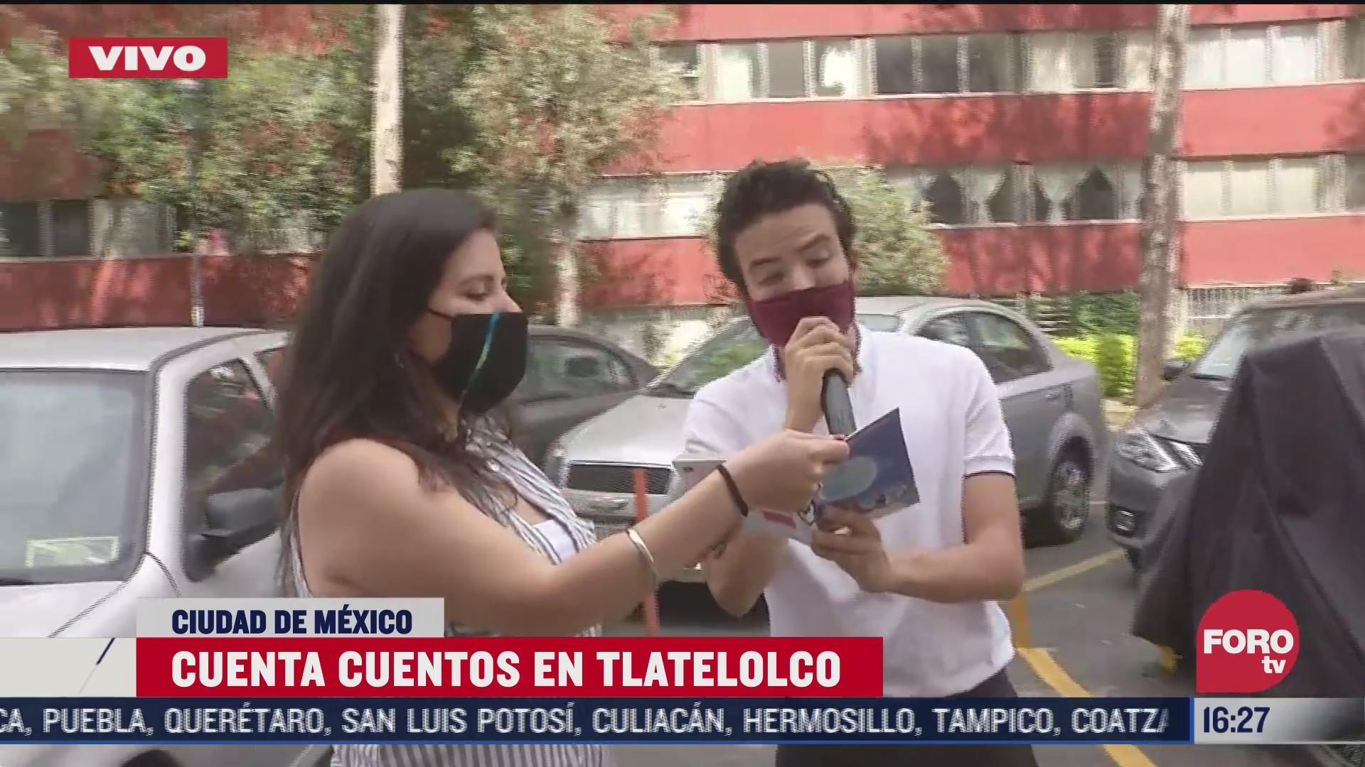 jovenes cuenta cuentos recorren tlatelolco en la cdmx