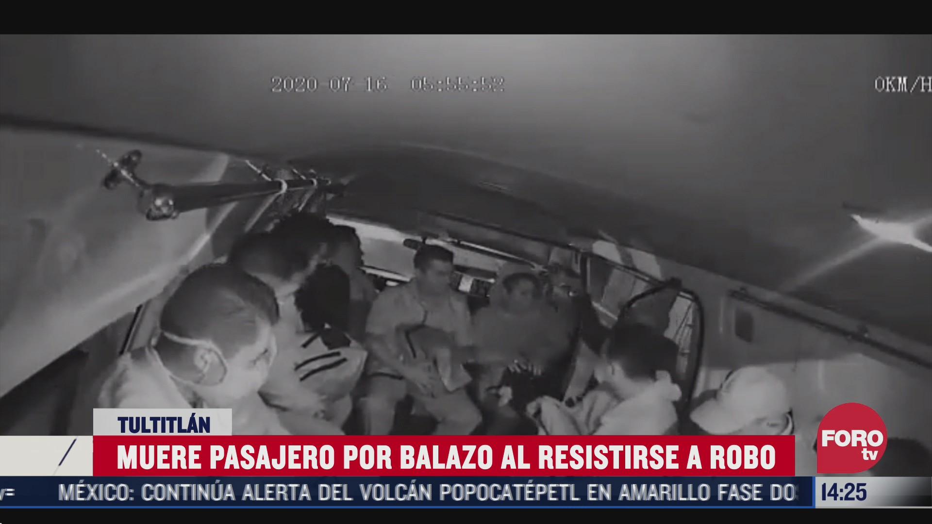 matan a pasajero de transporte publico por resistirse a un asalto