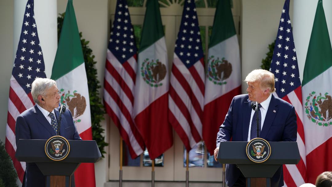 AMLO y Trump ofrecen mensaje conjunto en la Casa Blanca
