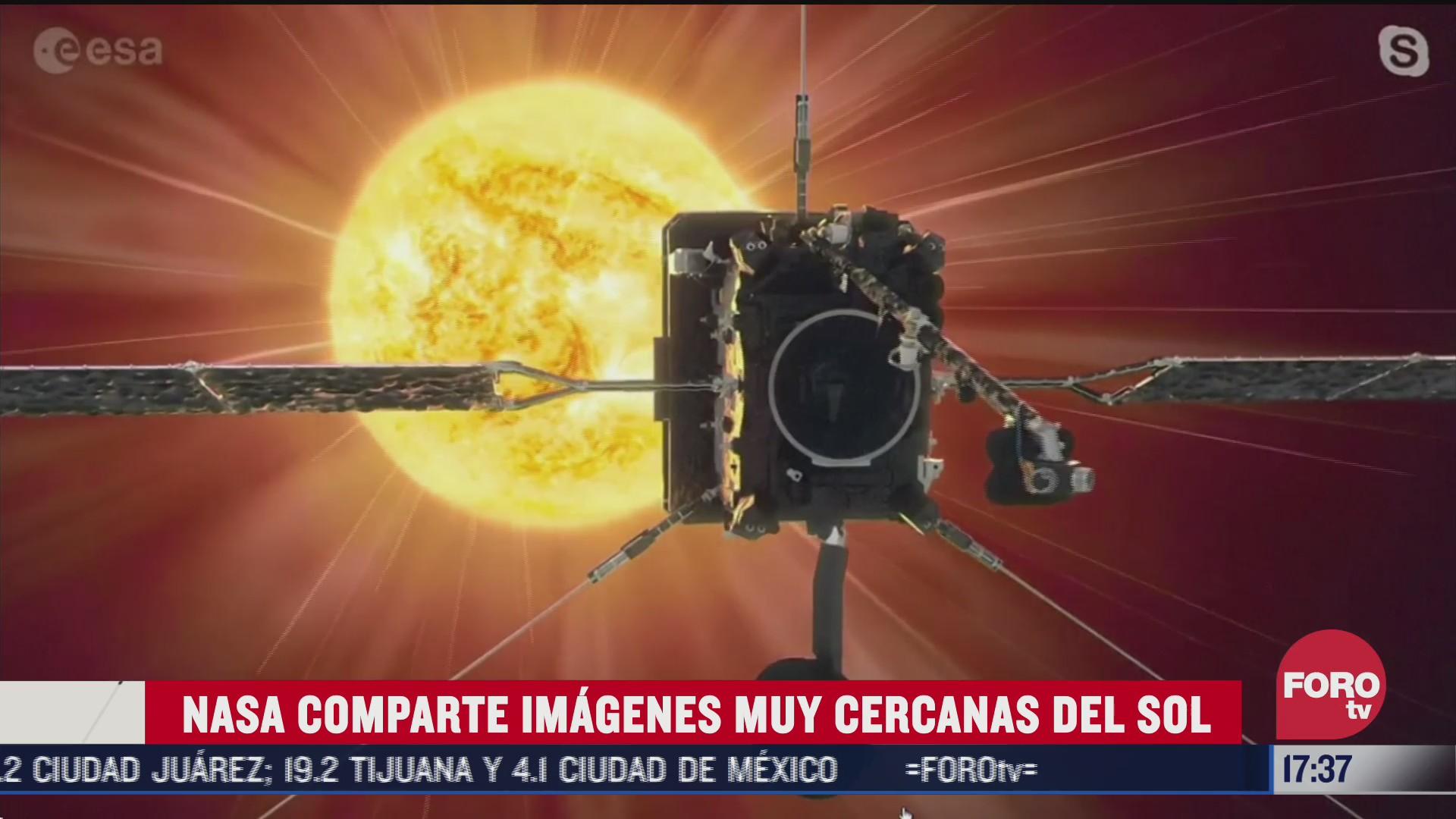 nasa revela impresionantes imagenes del sol