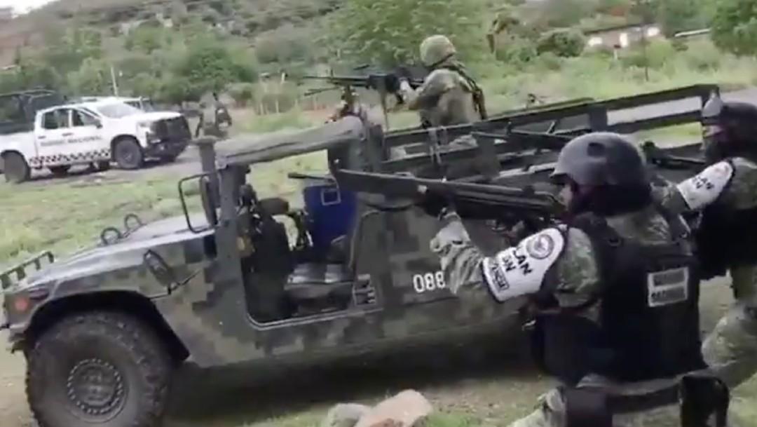 Se registra enfrentamiento en El Aguaje, en Aguililla – Noticieros Televisa