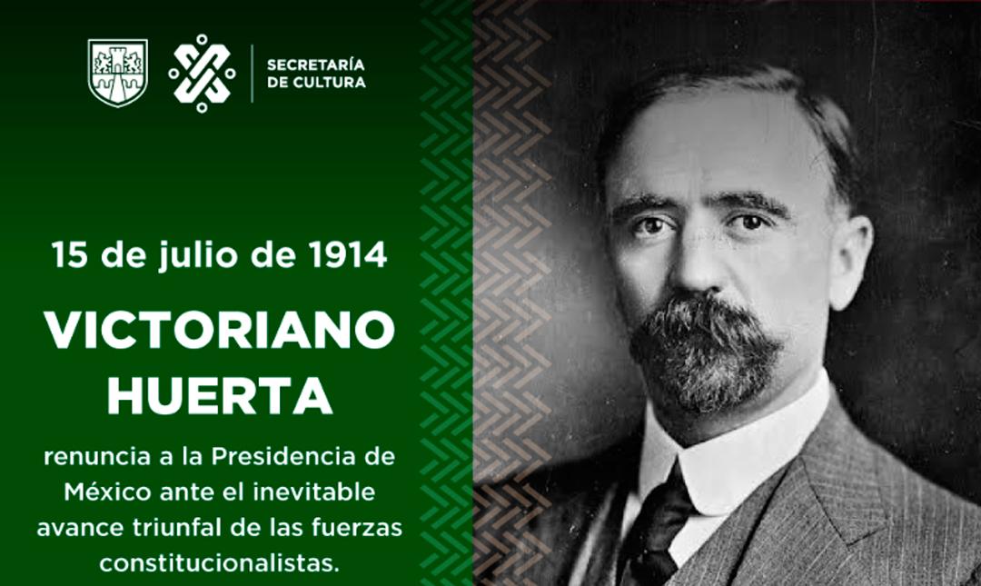 El titular de la Secretaría de Cultura de la CDMX explicó la polémica efeméride de Victoriano Huerta