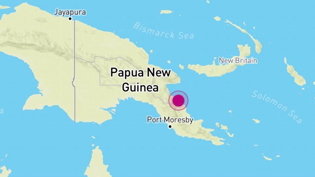 Sismo de magnitud 6,9 sacude Papúa Nueva Guinea y se activa alerta de tsunami