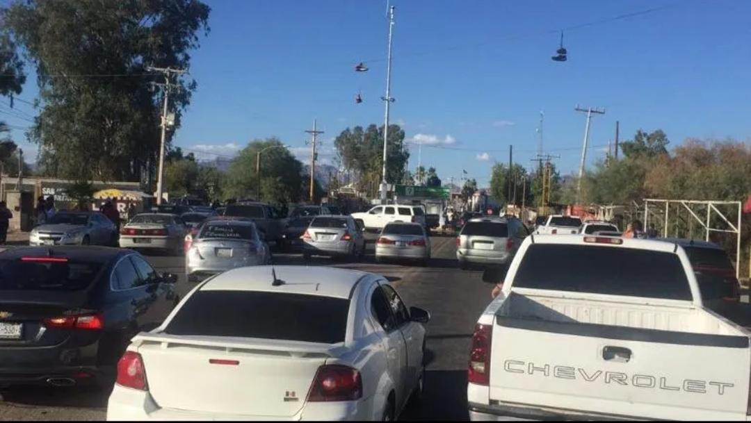 Ciudadanos de Sonoyta, Sonora cierran paso por temor al coronavirus