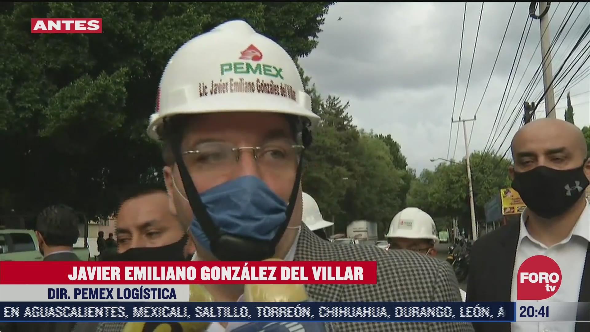 Javier Emiliano González del Villar, director de Pemex Logística, señala que la toma clandestina en Azcapotzalco estaba conectada a una bodega
