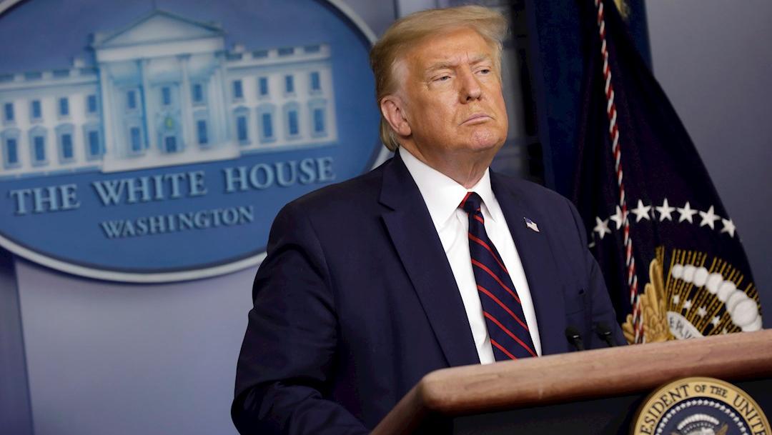 Conferencia de Donald Trump en la Casa Blanca