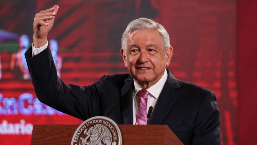 El presidente Andrés Manuel López Obrador durante su conferencia matutina este martes 25 de agosto 2020