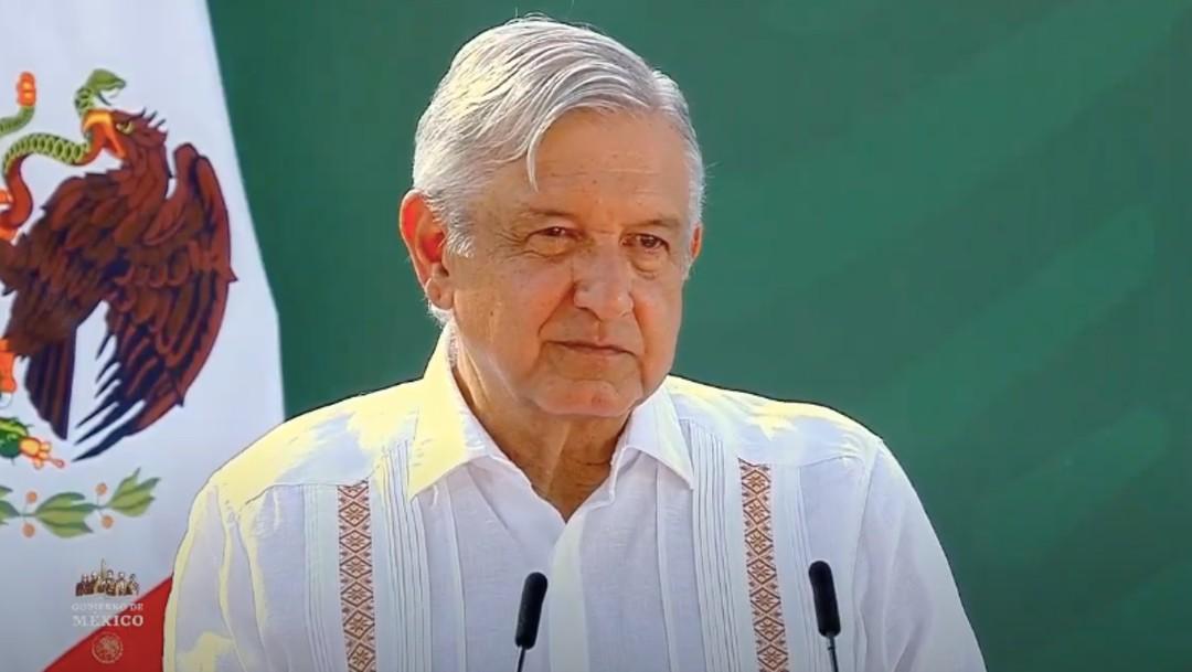 Andrés Manuel López Obrador, presidente de México, durante su conferencia de prensa matutina desde Cajeme, Sonora