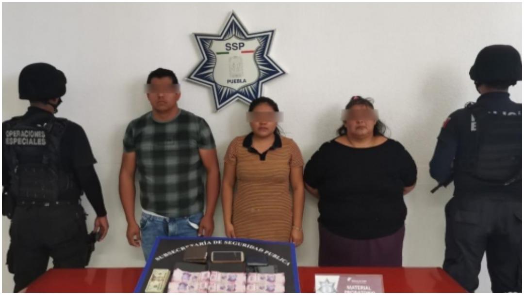 Arrestan a tres en Puebla