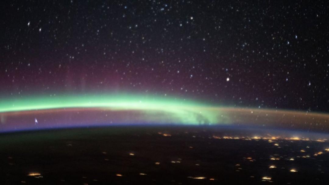 aurora boreal, resplandor nocturno, nasa