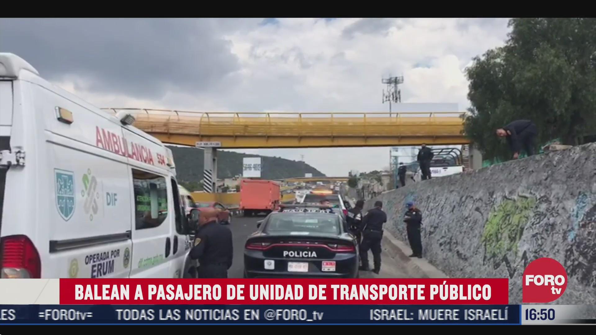balean a pasajero de transporte publico en el estado de mexico