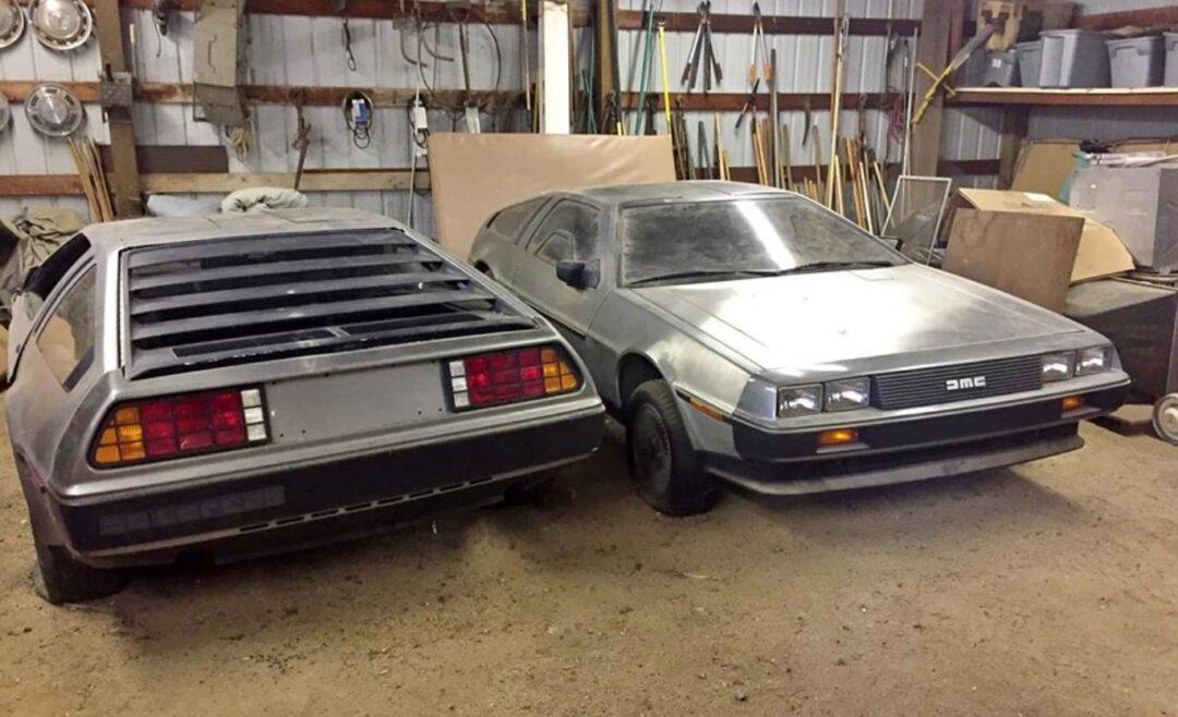 Encuentran 2 DeLorean abandonados en granero de California