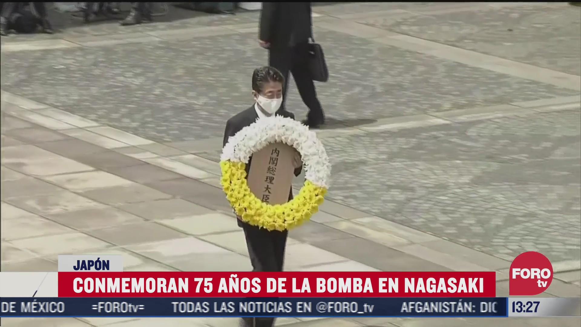 conmemoran 75 anos del bombardeo en nagasaki