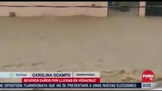 danos severos en veracruz tras lluvias