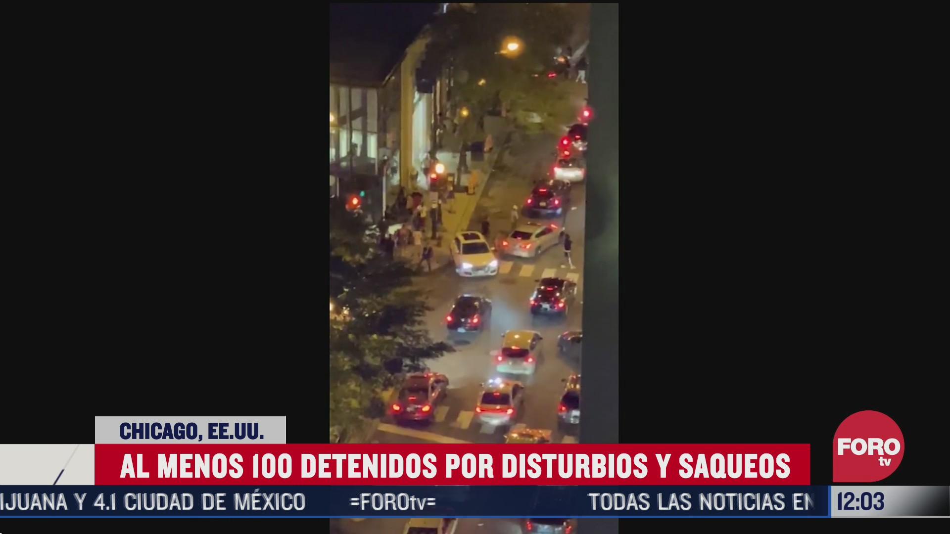 detienen a 100 por disturbios y saqueos en chicago eeuu