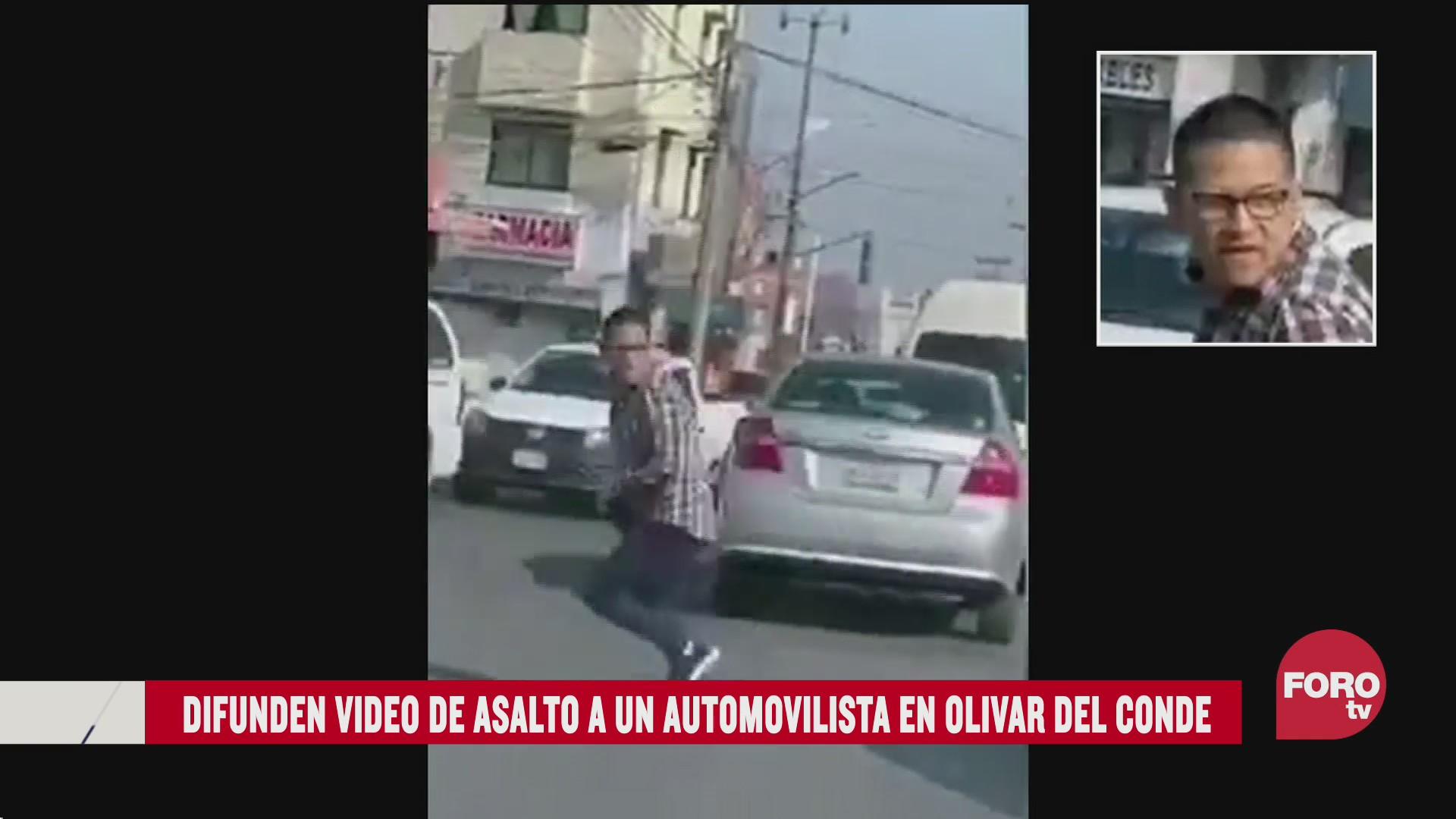 FOTO: 2 de agosto 2020, difunden en redes asalto a automovilista en alvaro obregon