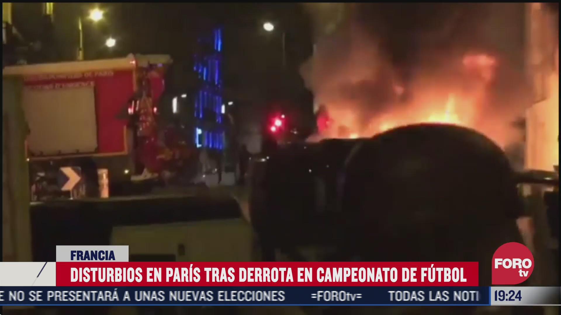 disturbios en paris tras derrota del psg en la champions league