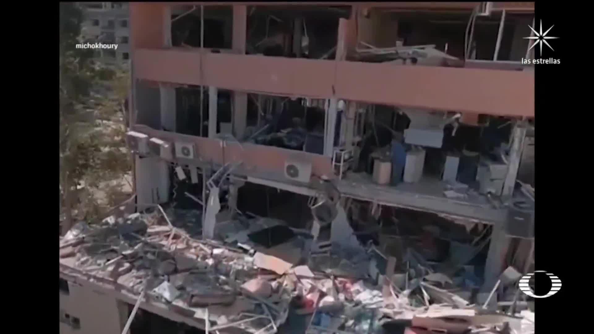 drone registra danos tras explosion en beirut