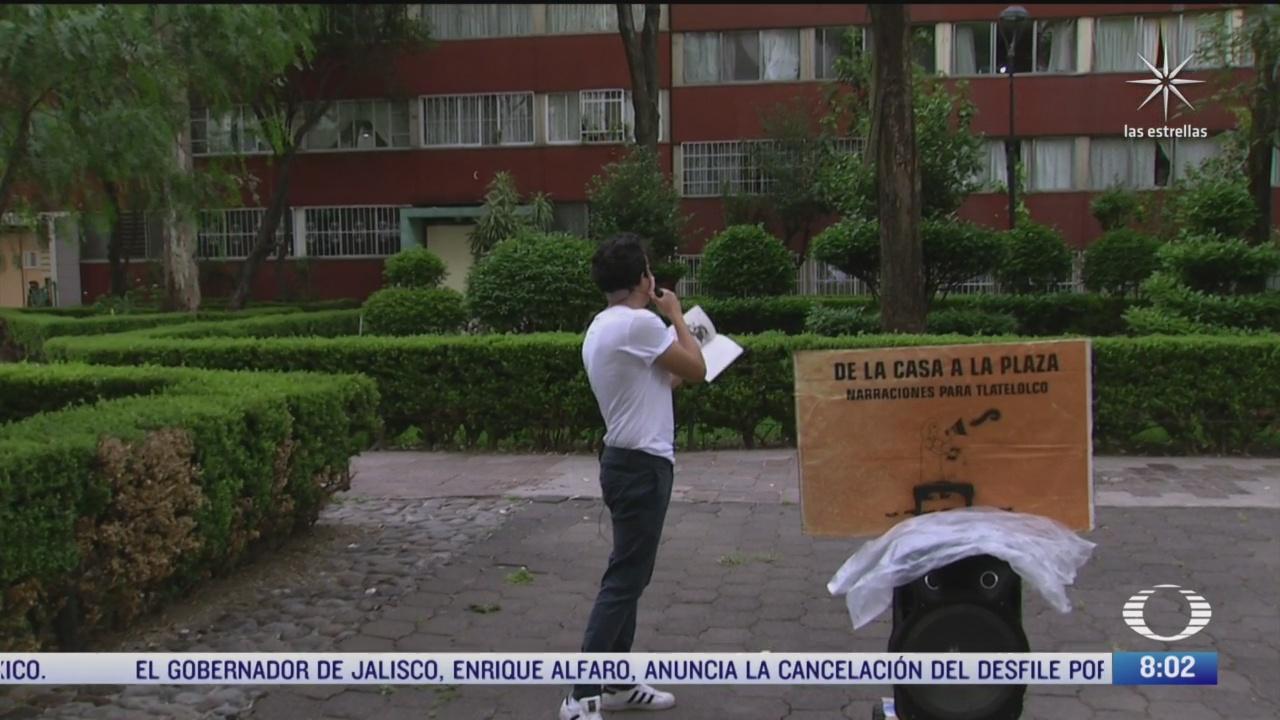 el cuentacuentos que entretiene a ninos confinados por la pandemia en tlatelolco