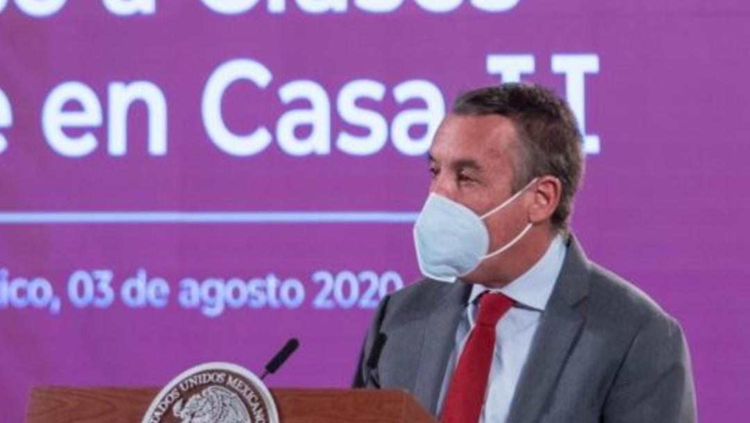 El señor Emilio Azcárraga Jean, presidente de Televisa, conferencia AMLO