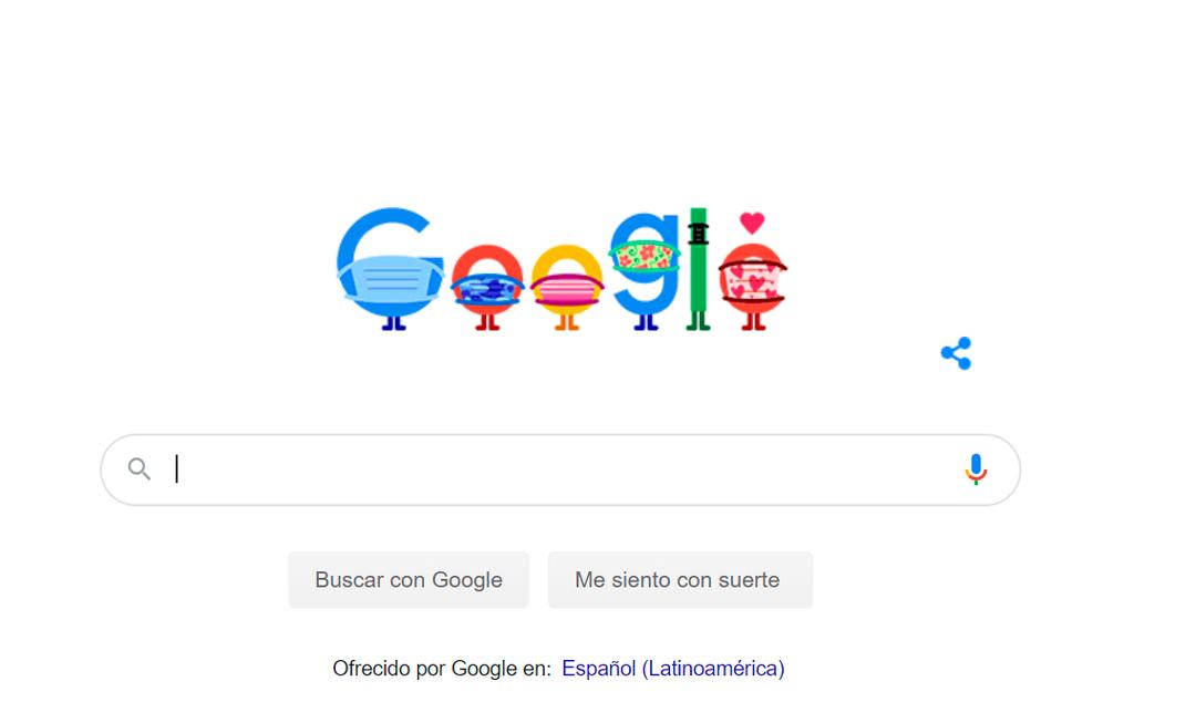 El doodle de Google fue dedicado a recomendaciones contra el coronavirus